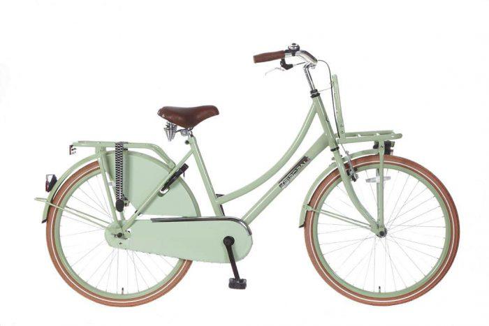 Meisjes Transportfiets Popal Daily Dutch Basic 26 inch groen