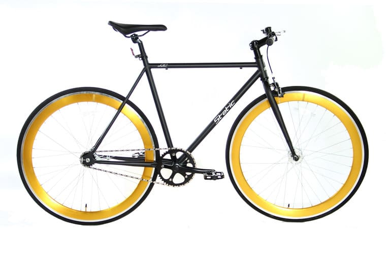 Static Fixed Gear 28 inch 57cm Mat-zwart Goud2