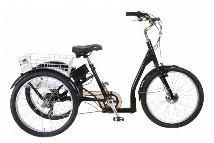 popal-elektrische-driewieler 24 inch zwart