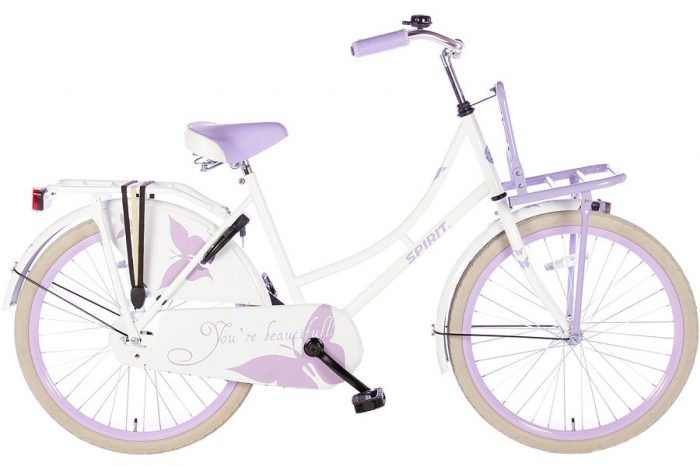 spirit-omafiets 24 inch wit paars