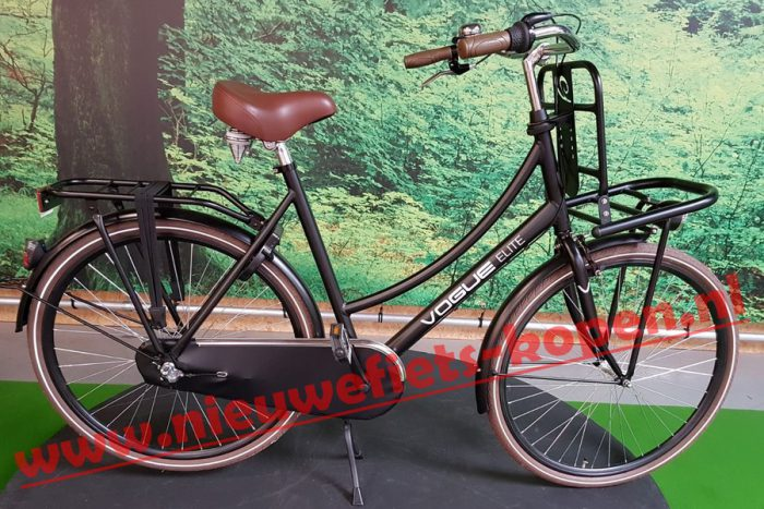 vogue elite dames transportfiets mat zwart 2