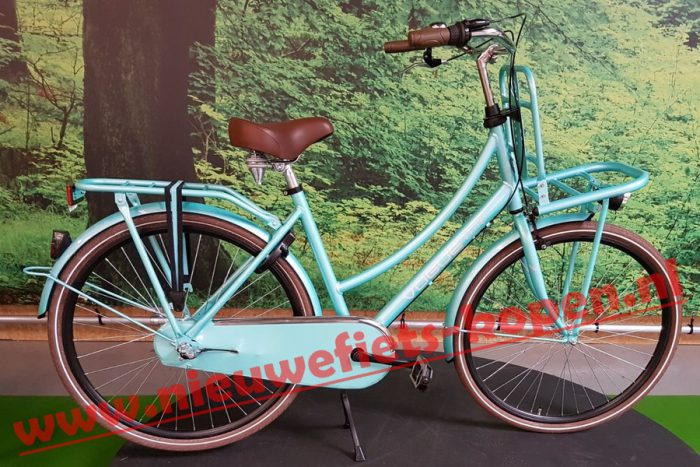 vogue elite dames transportfiets mint groen