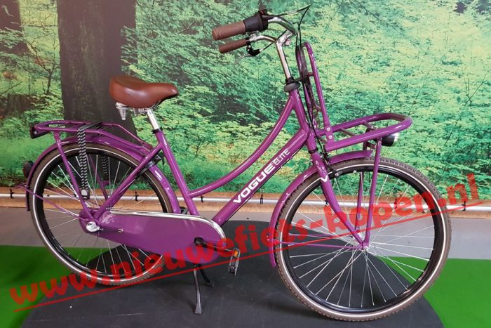 vogue elite dames transportfiets paars 2