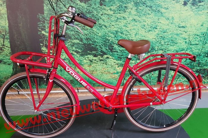 vogue elite dames transportfiets rood